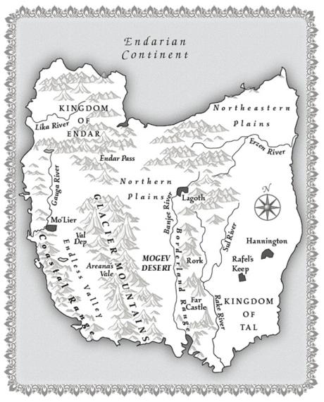 Endarian Continent Map